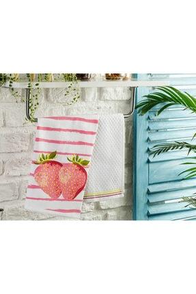 English Home Strawberry Pamuk 2'li Kurulama Bezi 40x60 Cm Pembe