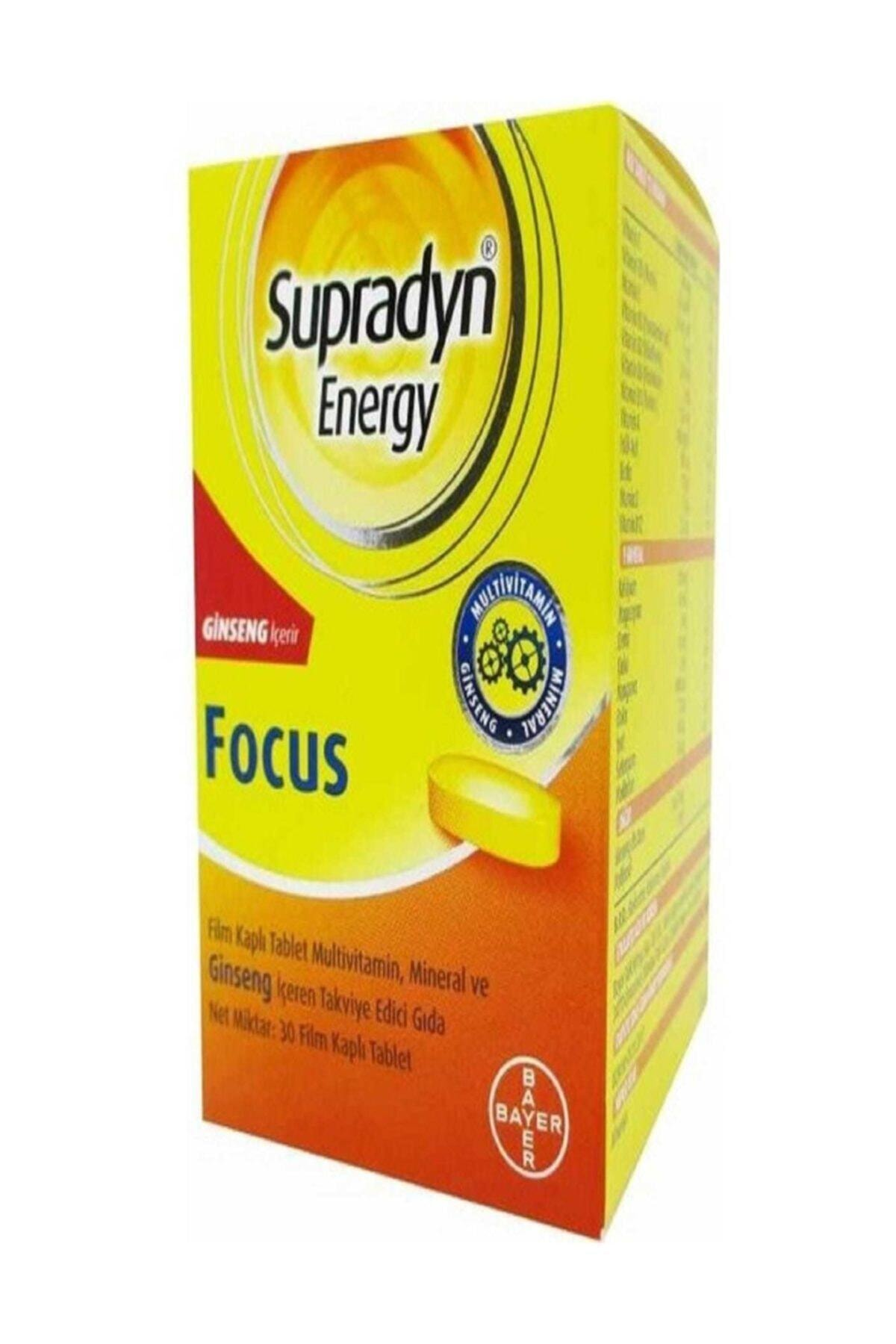 Supradyn Energy Focus Ginseng Içeren Takviye Gıda 30 Film Tablet 1