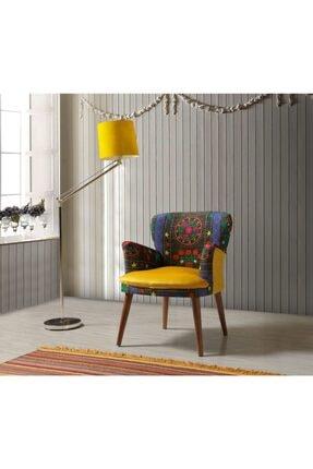 Vistaso Concept Etnik Desen Berjer, Salon, Balkon (Sarı)