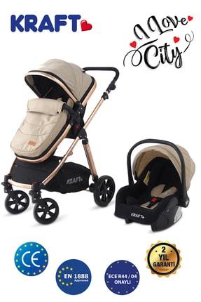 Prego Kraft City Travel Sistem Bebek Arabası Bej