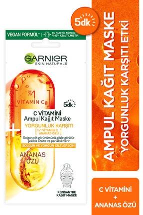 Garnier C Vitamini Ampul Kağıt Maske
