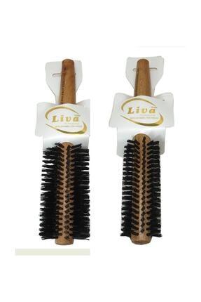 Liva Saç Fırçası Yanmaz Profesyonel Fön Fırçası 2 Adet