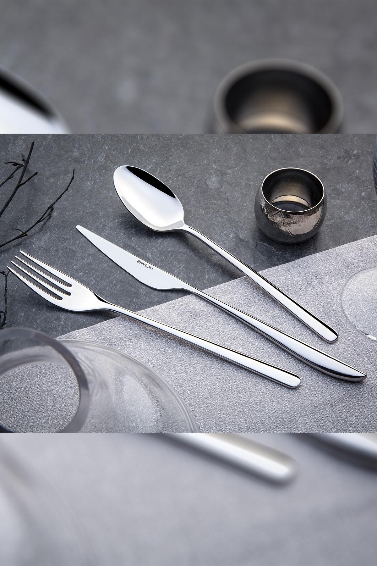 Emsan Elegance Bello 84 Parça Çatal Kaşık Bıçak Seti Lüks Kutulu 1