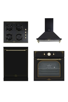Vestel 4'lü Siyah Rustik Set