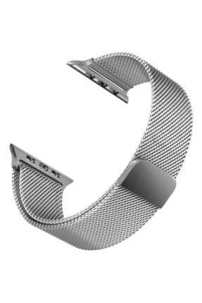 Apple Microsonic Watch 3 38mm Uyumlu  Milanese Loop Kordon Gümüş