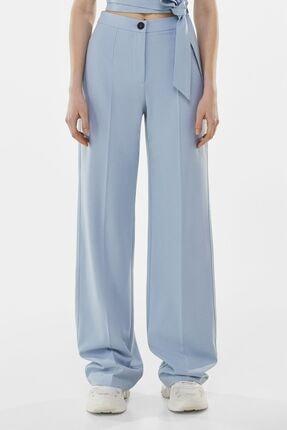 Bershka Kadın Mavi Wide Leg Pantolon