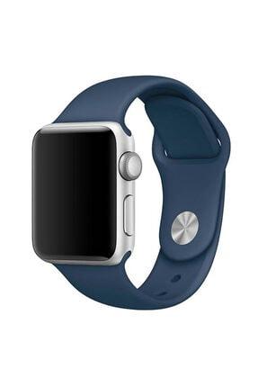 Apple Microsonic Watch 42mm Silikon Kordon Lacivert