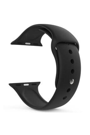 Apple Microsonic Watch Series 6 44mm Silikon Kordon Siyah
