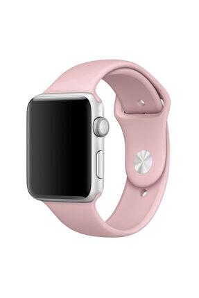 Apple Microsonic Watch 38mm Uyumlu Silikon Kordon Pembe