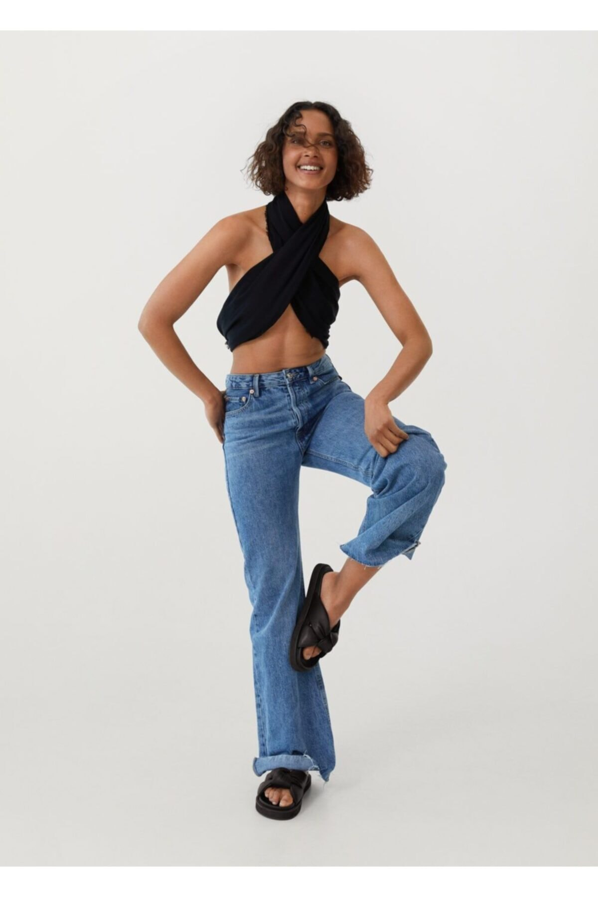 MANGO Woman Düğümlü Platform Sandalet 2