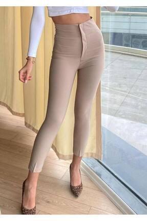 Moda Fima Vizon Ultra Yu?ksek Bel Kumas? Pantolon?