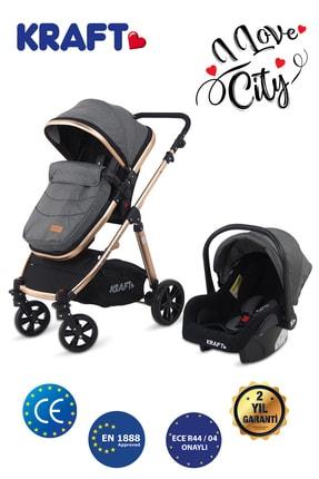 Chicco Kraft City Bebek Arabası Travel Sistem Ana Kucağı Dahil - Gri