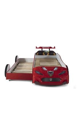 Ferramini Arabalı Yatak, Yavrulu Forza Kırmızı Arabalı Yatak