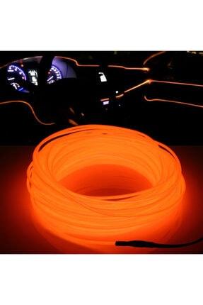 C9 Araç Içi Neon Ledi Ip Led Torpido Ledi 2 Metre Neon Led C9 Turuncu
