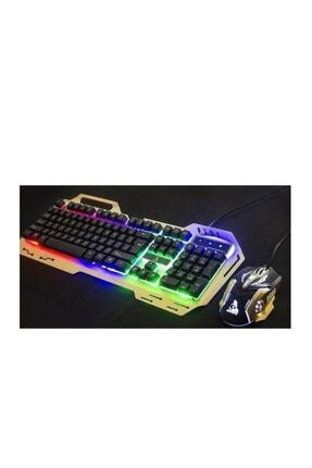 POLYGOLD En Siga Ledli Oyuncu Klavyesi Gamıng Klavye Mouse Set Işıklı Pg-8014