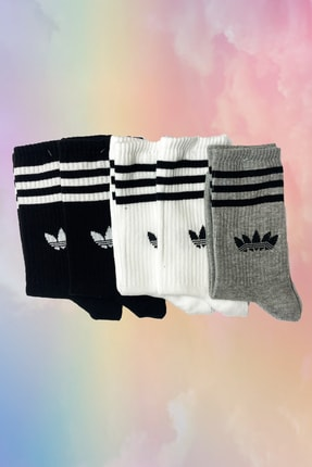 Neşeli Çoraplar Multicolor Yapraklar Gym Atletik Çorap Seti 5'li