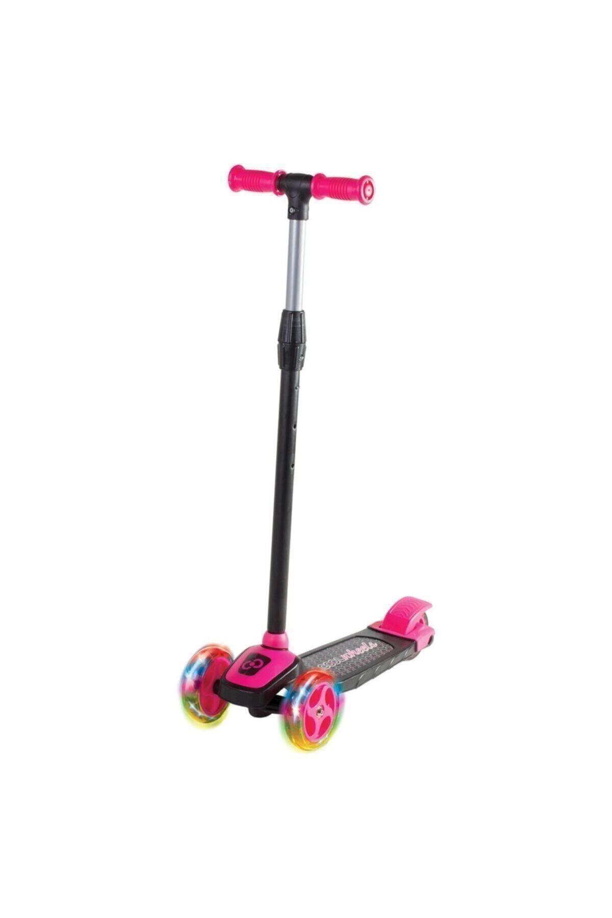 Furkan Toys Pembe Cool Wheels Led Işıklı 3+ Tekerlekli Yükseklik Ayarlı Scooter 1