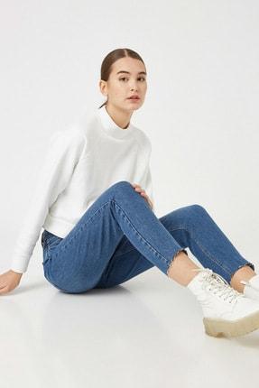 Koton Kadın Orta Indigo Jeans 1KAK47614MD