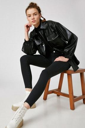 Koton Kadın Siyah Pamuklu Yüksek Bel Jegging Jeans