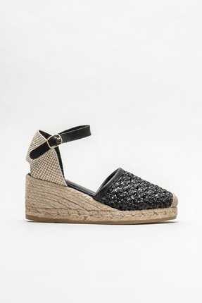 Elle Shoes Kadın Siyah Espadril