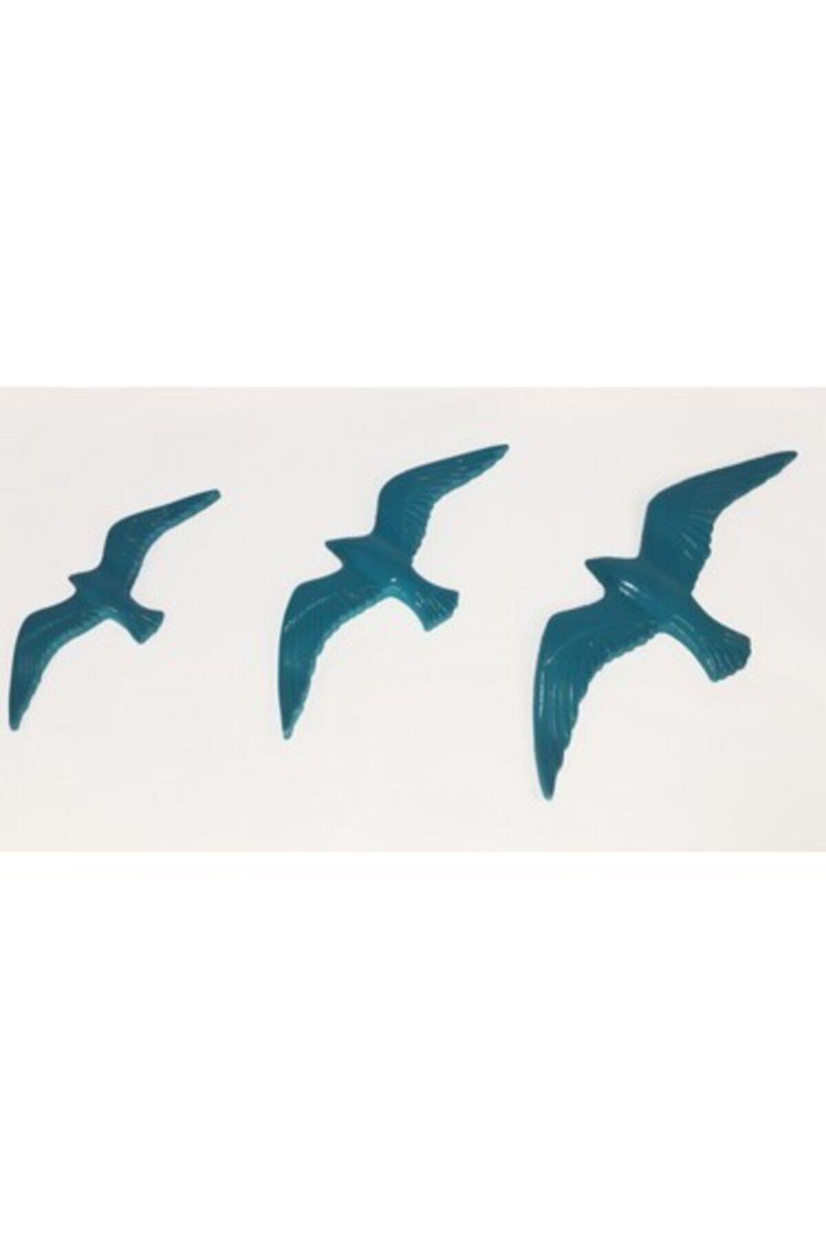 RetroLazer Dekoratif Modern Dörtlü Kuş Duvar Süsüyeni Duvar Dekoru 1