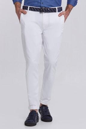 Hemington Erkek Kanvas Beyaz Chino Pantolon