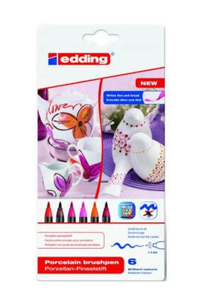 Edding 4200 Porselen Kalemi (6 Lı Paket - Sıcak Renkler)