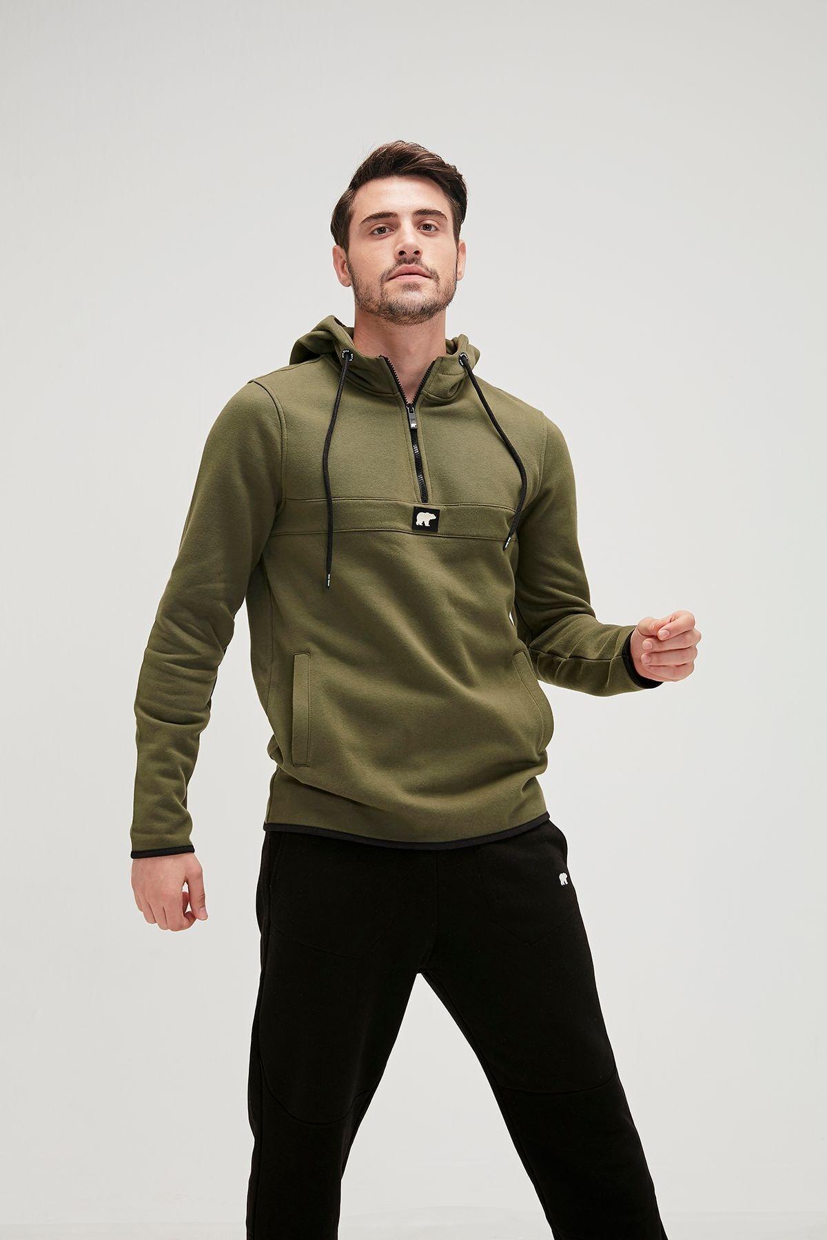 Bad Bear Defence Half-zıp Basic Pamuklu Erkek Sweatshirt 19.02.27.027 1