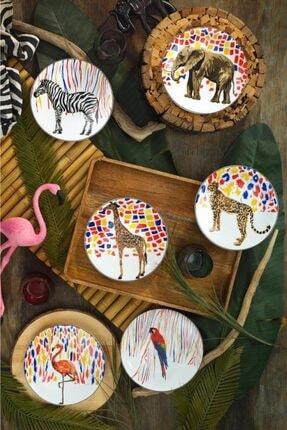Kütahya Porselen Karnaval Pasta Takımı 6 Parça