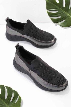 Bambi Siyah Platin Kadın Casual Ayakkabı K01839001209