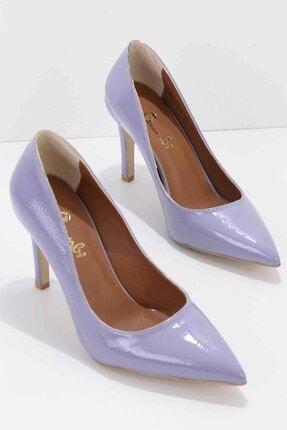 Bambi Lila Rugan Kadın Klasik Topuklu Ayakkabı K01639201598