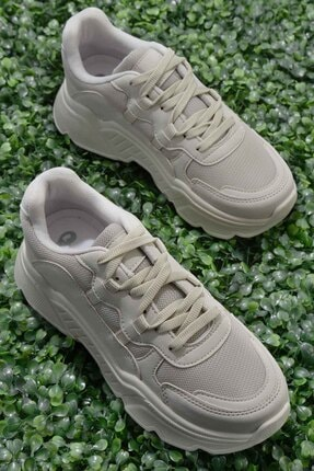 Bambi Bej Nubuk Kadın Sneaker K01876011071