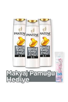 Pantene 2'si 1 Arada Şampuan ve Saç Bakım Kremi Kepeğe Karşı Etkili 500 ml X 3