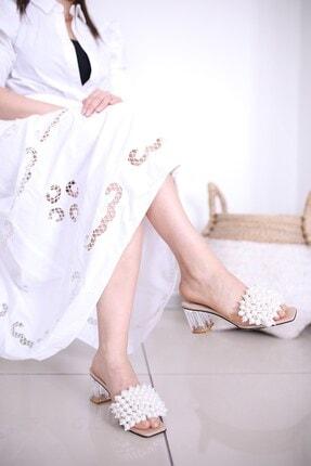 Luxx Kadın Ten Topuklu Incili Terlik