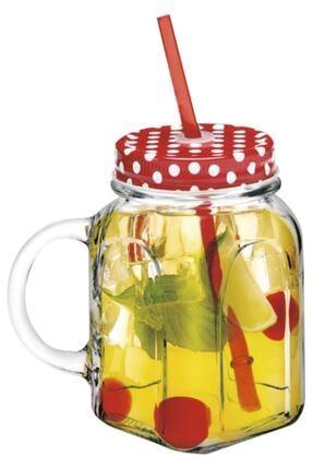 Paşabahçe 450 ml 2'li Kulplu Pipetli Limonata Bardağı