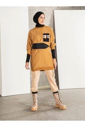 Loreen Kadın Taba Cep Detaylı Tunik