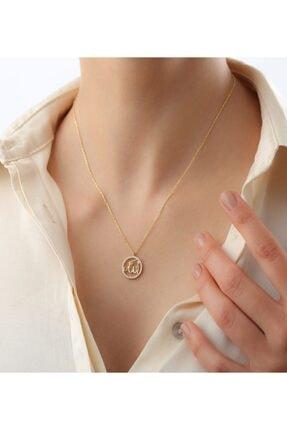 Sorti Takı Kadın Altın 925 Ayar Gümüş Allah Lafzı Kolye