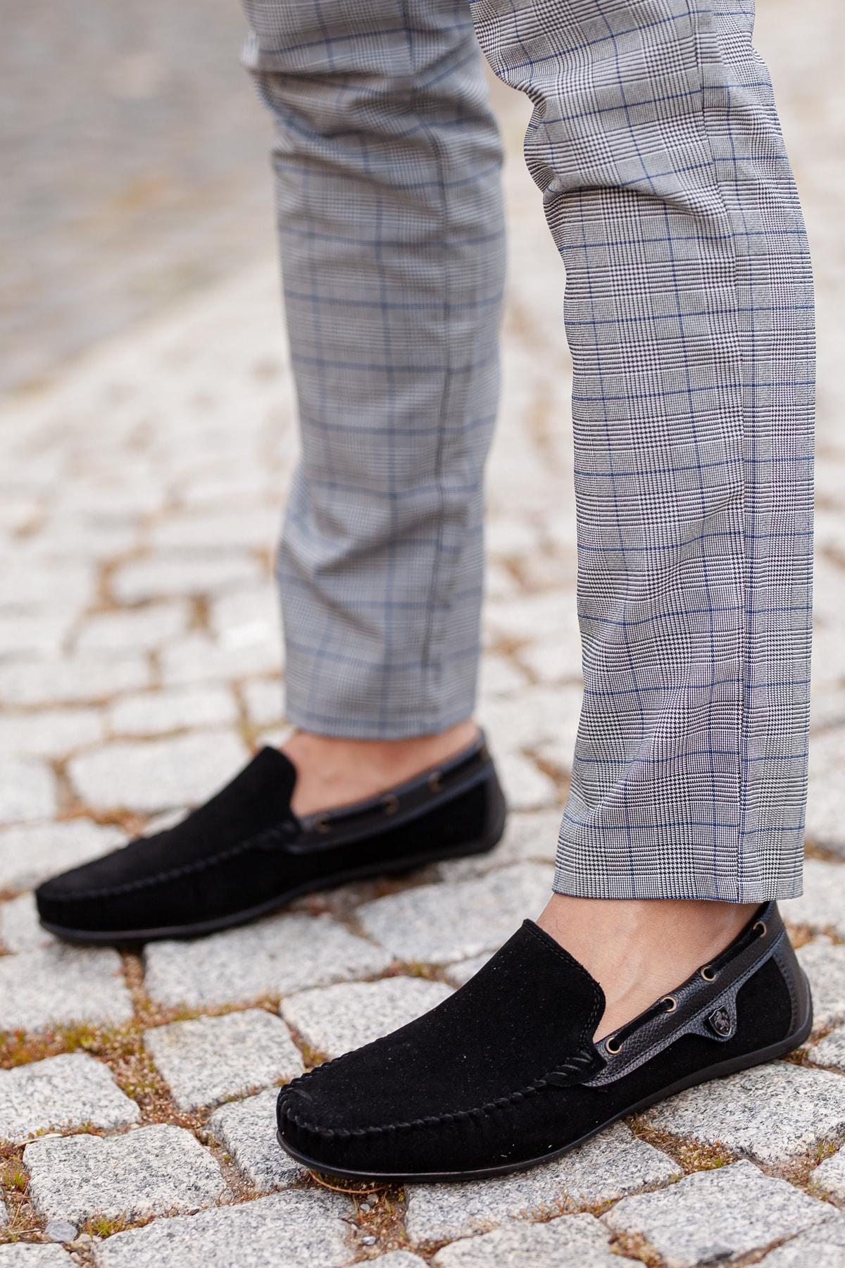MUGGO Siyah Süet Günlük Ayakkabı M3473 Hediye 1