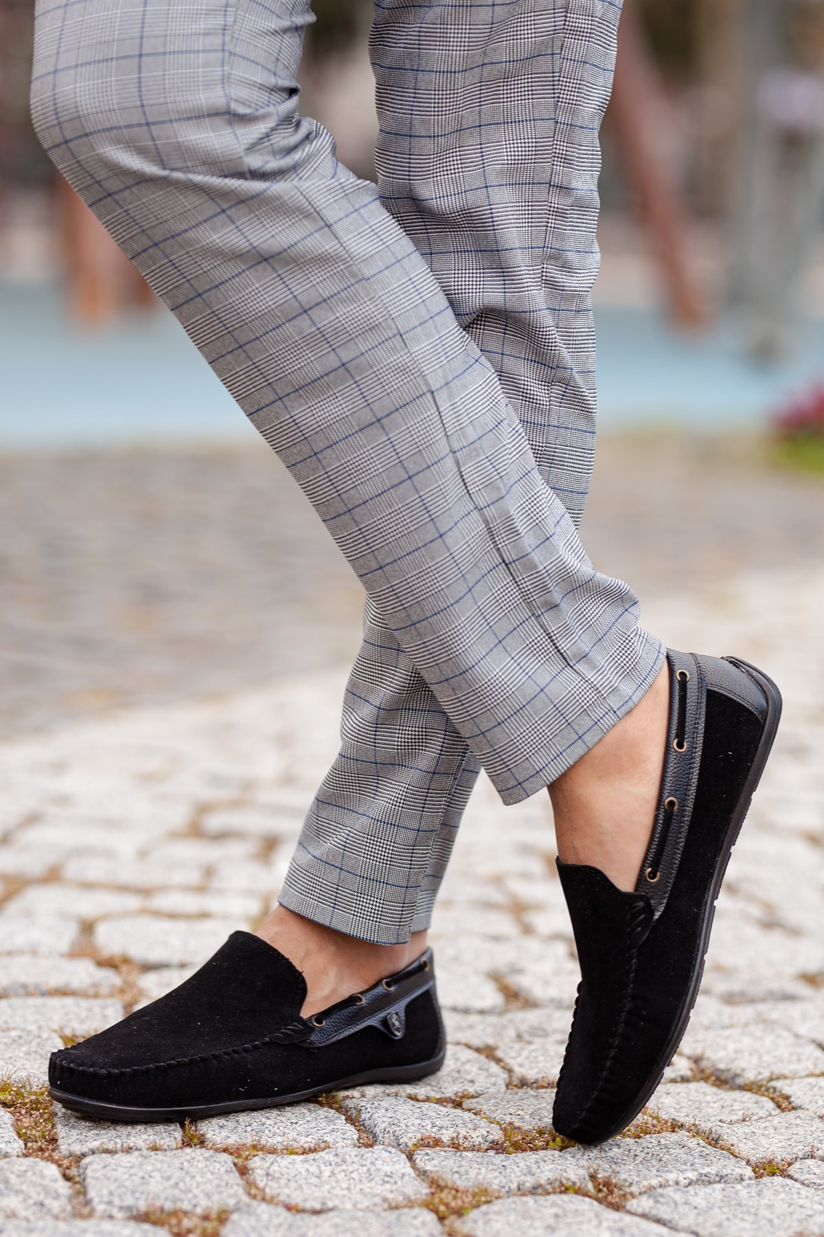 MUGGO Siyah Süet Günlük Ayakkabı M3473 Hediye 2