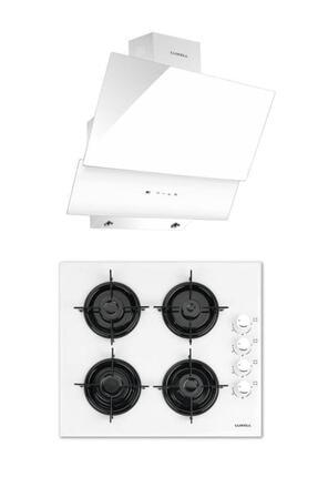 Luxell Ankastre Set (lx-40 Tahdf Beyaz Ocak- Da6-835 Beyaz Davlumbaz) 2'li