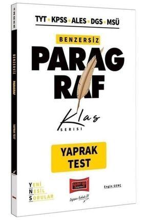 Yargı Yayınevi Tyt Kpss Ales Dgs Paragraf Benzersiz Yaprak Test Klas Serisi