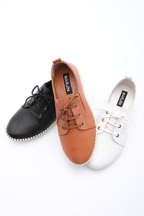 Marjin Kadın Hakiki Deri Comfort Ayakkabı Resasiyah