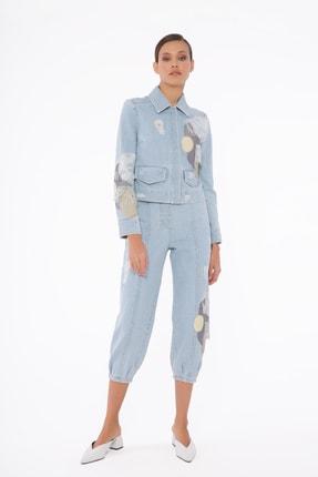 GİZİA Kadın Mavi Gızıa Pantolon M1d074
