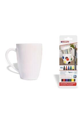 Edding Porselen Kalemi Standart Ana Renkler ve Porselen Kupa 4200