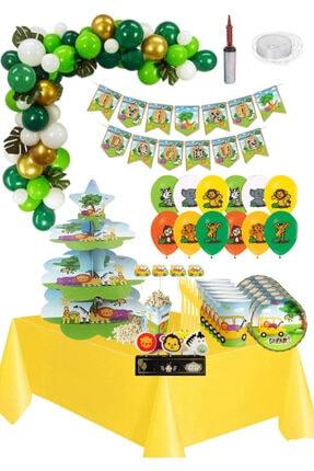 BARN MEMBERS Safari Temalı Eğlence Parti Doğum Günü Seti 16 Kişilik