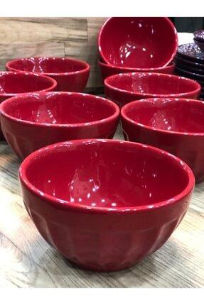 Kütahya Porselen Nanocream 14 Cm Kırmızı Kase-6 Adet