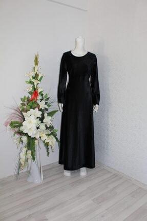 BUENO Kadın Siyah Kadife Elbise