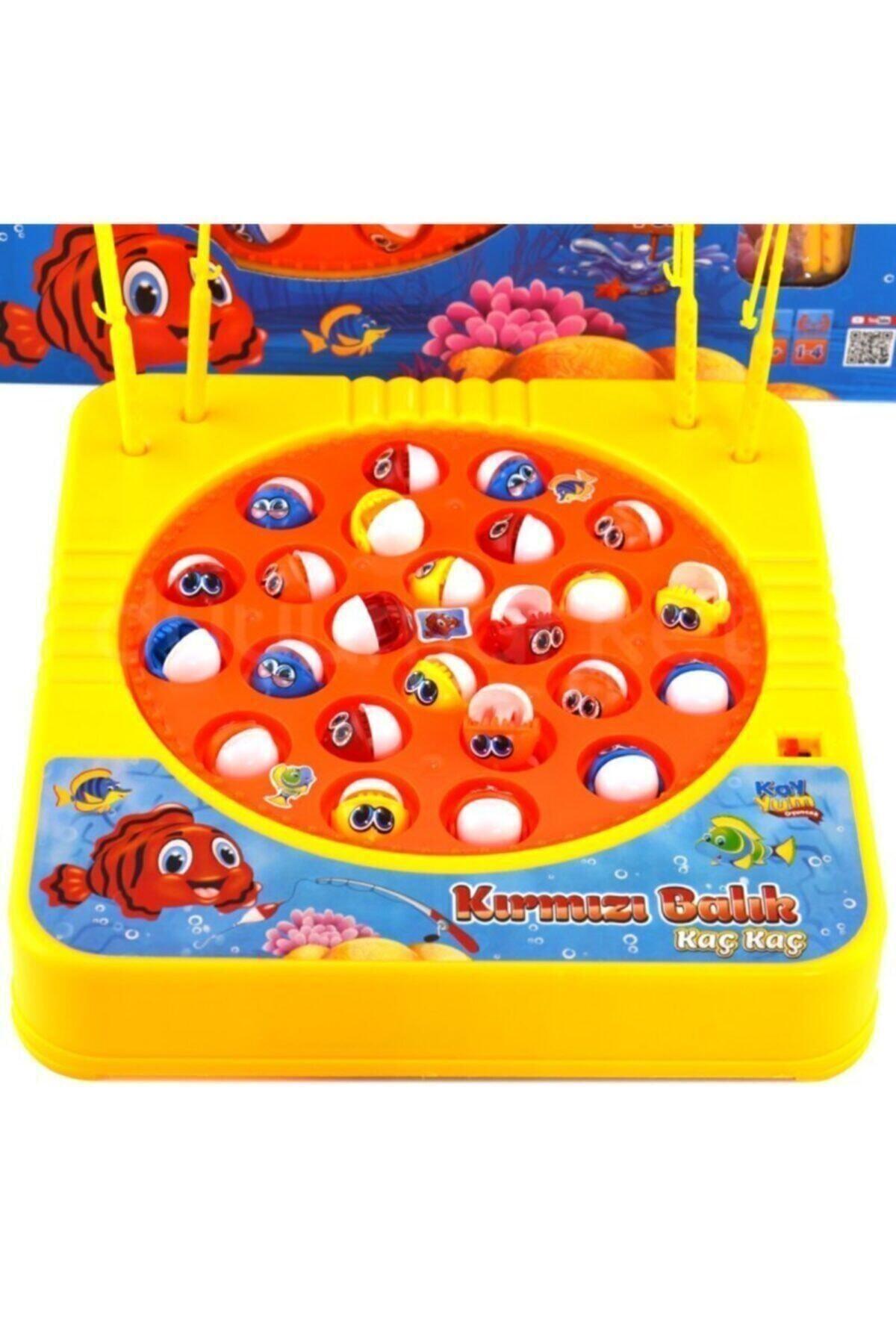 trendavm Kayyum Oyuncak Müzikli Balık Tutma Oyuncagı Kırmızı Balık 2