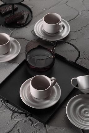 Kütahya Porselen New Tuvana Bej Kahve Takımı