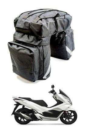 Carneil 5 Gözlü Arka Heybe Çanta 45 Litre Reflektörlü Yazlık Kışlık Motosiklet Su Geçirmez